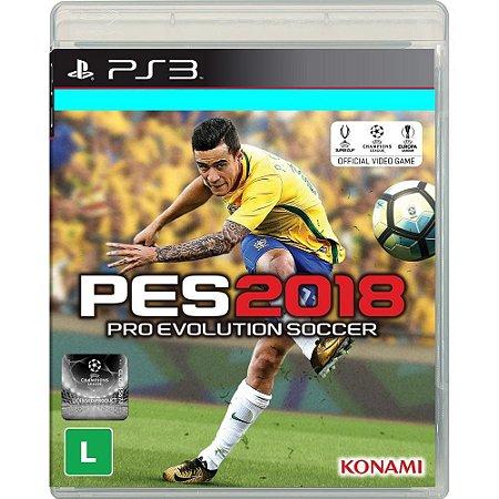 Jogo PES 18 Pro Evolution Soccer 2018 PS3