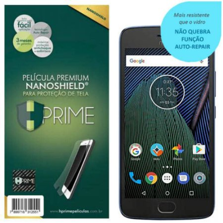 Pelicula Tela HPrime Motorola Moto G5 Plus NanoShield