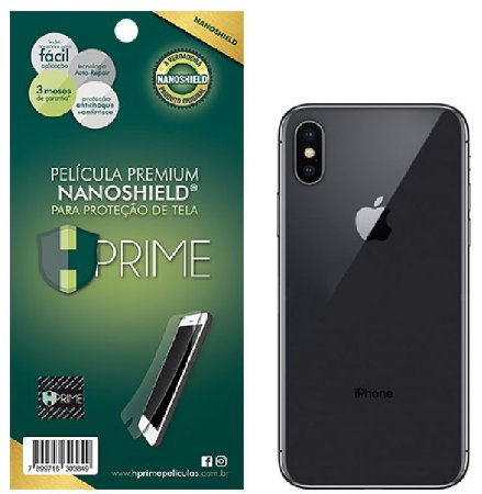 Pelicula Traseira HPrime Apple iPhone X - VERSO - NanoShield