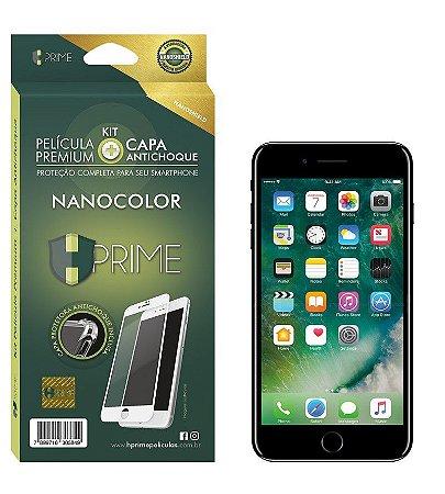 Kit Nanocolor Iphone 7 - Película Nanoshield + Capa Antichoque - Preto (Acompanha Capa Protetora)