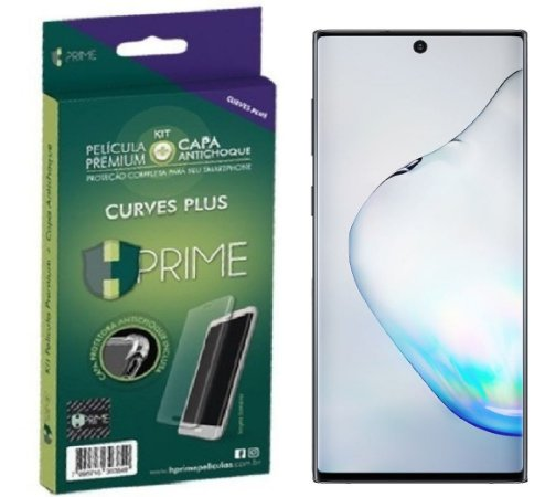 Pelicula HPrime Samsung Galaxy Note 10 Plus 6.8 - KIT Curves PRO (Acompanha capa Silicone)