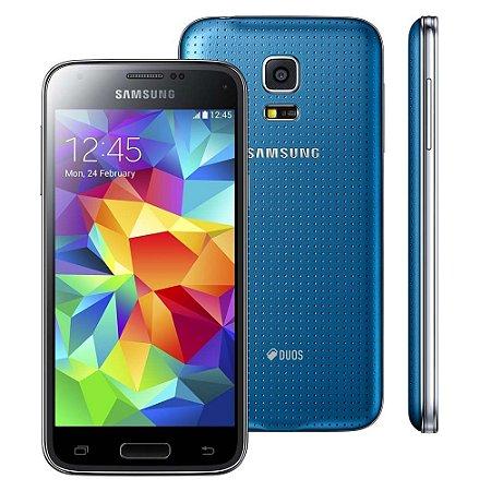 Smartphone Samsung Galaxy S5 Mini Duos 16GB G800H Desbloqueado Azul