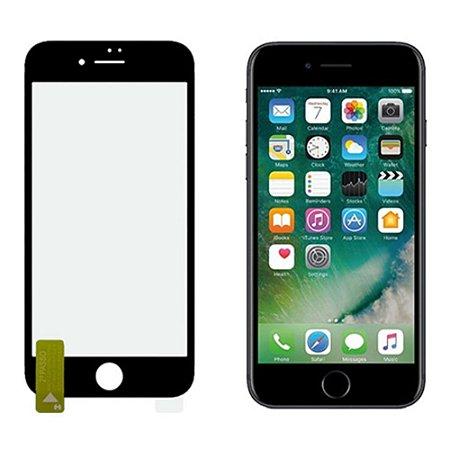 Kit NanoColor | Película Preto + Capa Antichoque Hprime | Apple iPhone 8 Plus