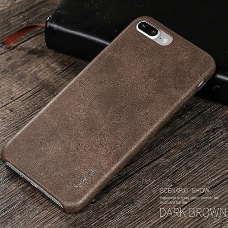 Capa Protetora X-level Vintage Couro Pu Marrom Iphone 7 Plus