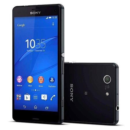 "Smartphone Sony Xperia Z3 Compact D5833 Preto Tela 4.6"", Câmera 20.7MP, 3G/4G, Android 5.0 Quad-Core 2.5 GHz"