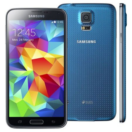 Smartphone Samsung Galaxy s5 g900md duos 16gb 5.0 lollipop 4g 16mp Azul