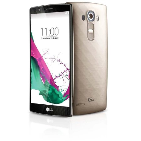 Smartphone LG G4 Dual Chip H818 Dourado Tela de 5.5, Android 5.1, 4G, Câmera 16MP
