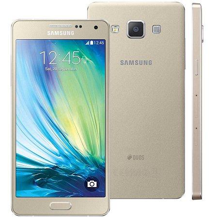 Smartphone Samsung Galaxy A5 A500M/DS Dual Chip 4G Dourado Quad Core 1.2GHz, HD,  16GB, Cam.13+5MP