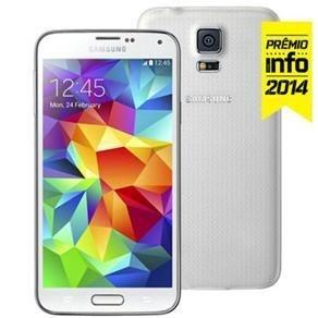 """Smartphone Samsung Galaxy S5 SM-G900M Branco com Tela 5.1"""", Android 5.0, 4G, Câmera 16MP e Processador Quad Core 2.5GHz"""