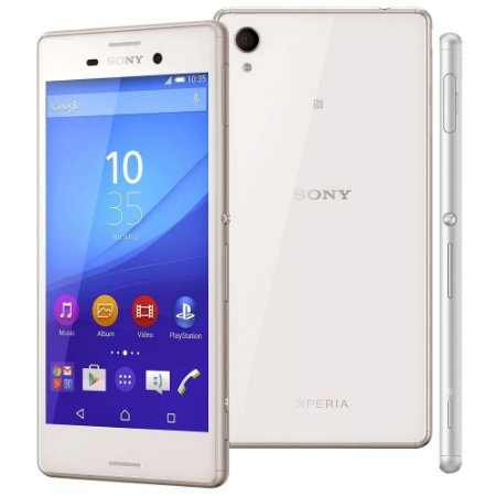 "Smartphone Sony Xperia M4 Aqua Dual Branco à Prova D'água 16GB, Tela 5"", Dual Chip, 4G, Câmera 13MP, Android 5.0 Octa-Core"
