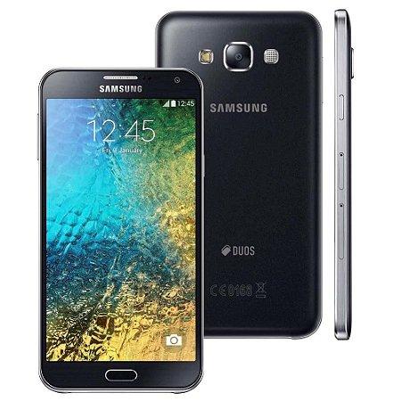 """Smartphone Samsung Galaxy E7 4G Duos Preto com Dual chip, Tela 5.5"""", Câmera de 13MP e Frontal de 5MP, Android 4.4 e Proc"""