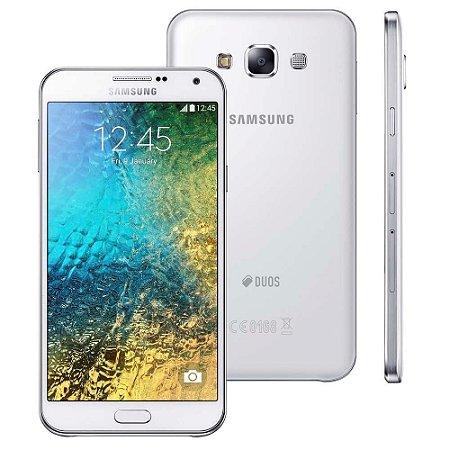 """Smartphone Samsung Galaxy E7 4G Duos Branco com Dual chip, Tela 5.5"""", Câmera de 13MP e Frontal de 5MP, Android 4.4 e Pro"""