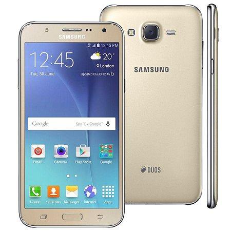 """Smartphone Samsung Galaxy J7 Duos Dourado com Dual chip, Tela 5.5"""", 4G, Câmera 13MP, Android 5.1 e Processador Octa Core"""