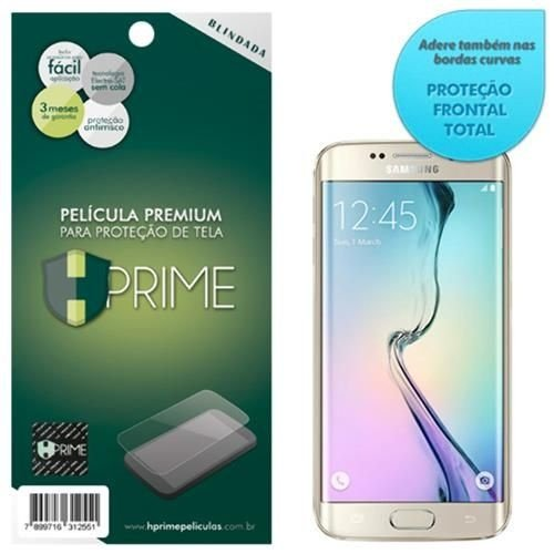 Pelicula Protetora de Tela HPrime para Galaxy S6 Edge Blindada Curves (Cobre A Parte Curva Da Tela).
