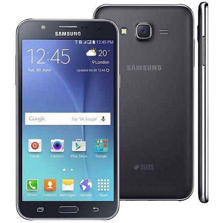 """Smartphone Samsung Galaxy J7 Duos Preto com Dual chip, Tela 5.5"""", 4G, Câmera 13MP, Android 5.1 e Processador Octa Core"""