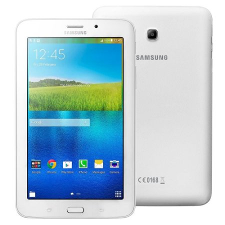 "Tablet Samsung Galaxy Tab E 7.0 WiFi SM-T113NU Branco Tela 7"", 8GB, Quad Core de 1.3GHz, Câm. 2MP, AGPS, Bluetooth e Android 4.4"