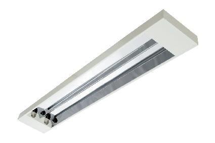 Luminária Soler Sobrepor T8/T10/T12 BLAN