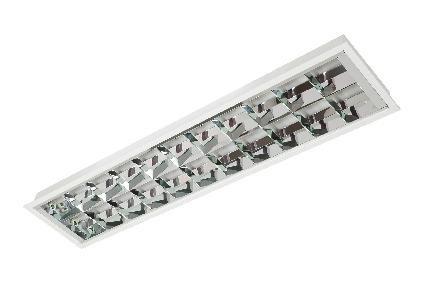 Luminária Acrux de Embutir  T8/T10 BLAN