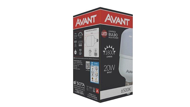 LÂMPADA LED 20W 6500K E27 BIVOLT AVANT