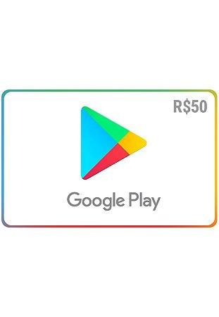Vale-Presente Google Play R$ 50 Brasil