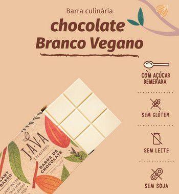 Barra de chocolate Branco - COM AÇÚCAR. zero glúten, leite e soja. VEGANO - Apenas 5 kg