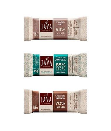 Chocolate 15 gramas - CAIXA com 30 tabletes - Escolha o sabor