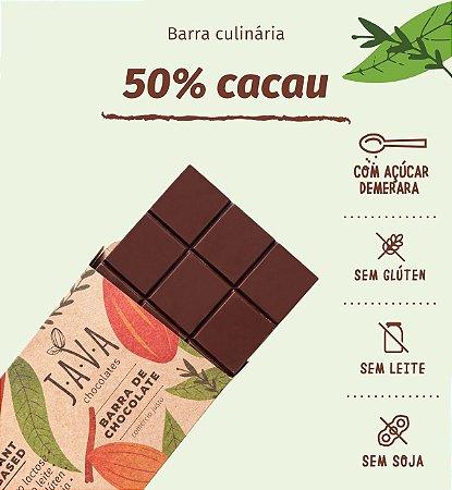 Barra de chocolate 50% cacau - Apenas 5kg