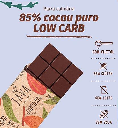 Barra de chocolate 85% cacau LOWCARB com XILITOL. Apenas 5kg