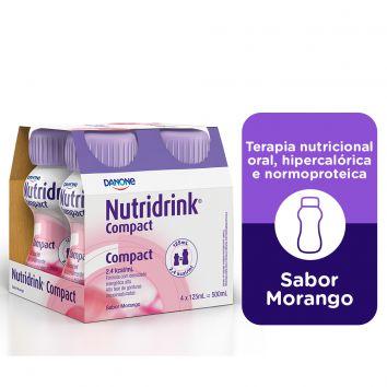 NUTRIDRINK COMPACT SABOR MORANGO 125ML C/4 UNID - DANONE