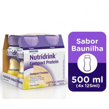 NUTRIDRINK COMPACT PROTEIN BAUNILHA 125ML C/4 UNID - DANONE