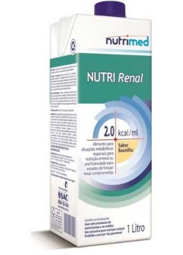NUTRI RENAL SABOR BAUNILHA C/1000 ML SIST ABERTO - NUTRIMED