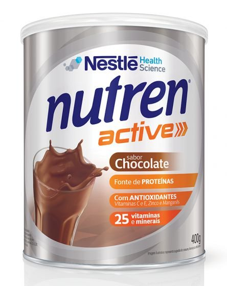 NUTREN ACTIVE SABOR CHOCOLATE 400GR - NESTLE