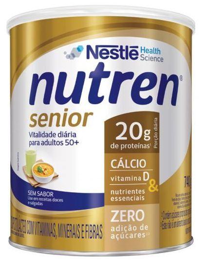 NUTREN SENIOR SEM SABOR C/740G - NESTLE