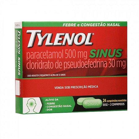 TYLENOL SINUS 500MG + 30MG C/24 CPR REV- JANSSEN-CILAG