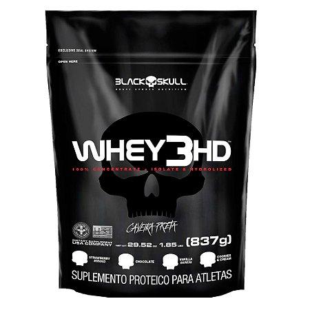 REFIL WHEY 3 HD BAUNILHA 837G - BLACK SKULL