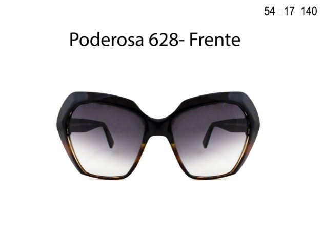 Óculos de Sol Detroit Poderosa 628 Preto Demi