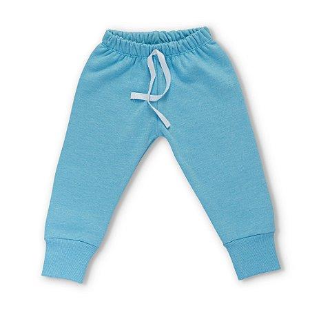 Calça Moletom Infantil Flanelada Inverno - Algodão - Azul