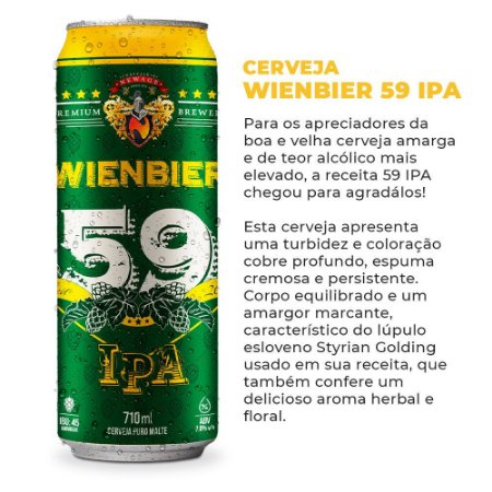 Cerveja Wienbier 59 IPA 710ml