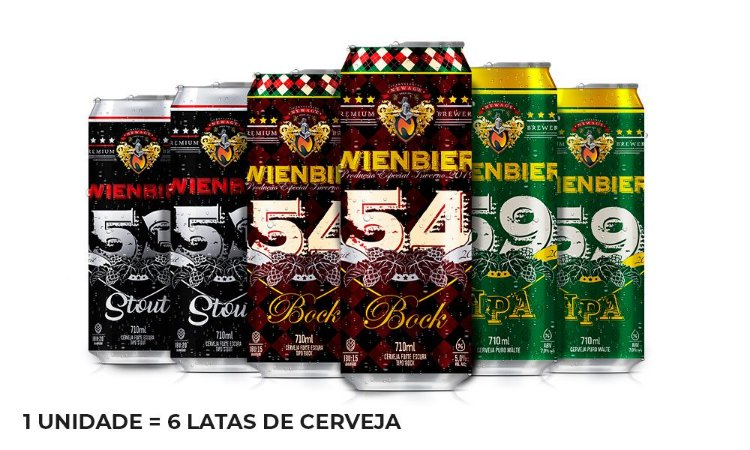Kit Cervejas Potentes - 6 Latas de 710ml