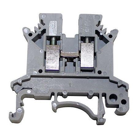 Borne de Passagem Cinza 2,5mm2 Conexão p/parafuso