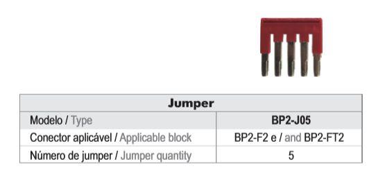 JUMPER P/ BP2 - 5 CONTATOS