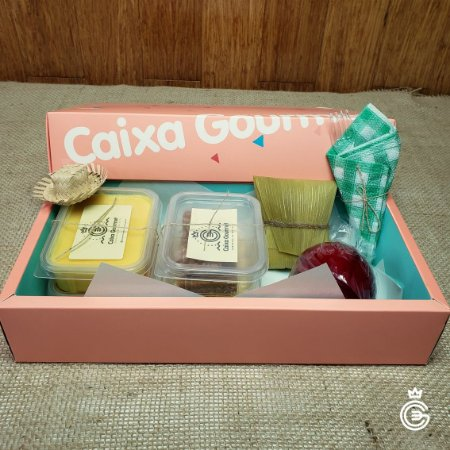 Kit Corporativo Festa Junina da Caixa Gourmet - Mini Kit 6 Itens (pedido mínimo de 10 unidades)