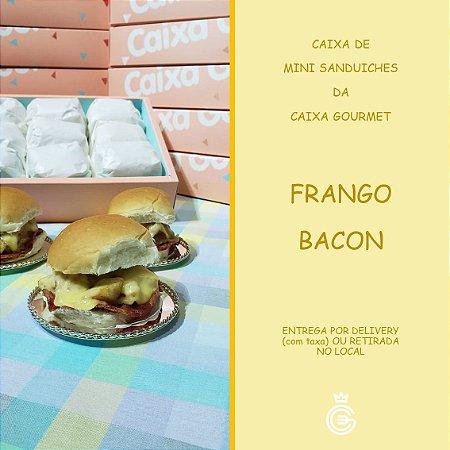 Kit Caixa Sanduíche - Mini Frango Bacon (15 unidades)