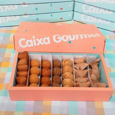 Kit Caixa Salgados VEGETARIANOS (30 unidades) - 7 Variedades
