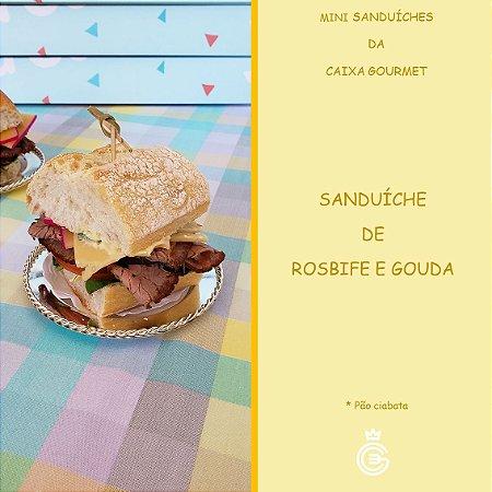 Kit Caixa Sanduíche Premium - Rosbife e Gouda (15 unidades)