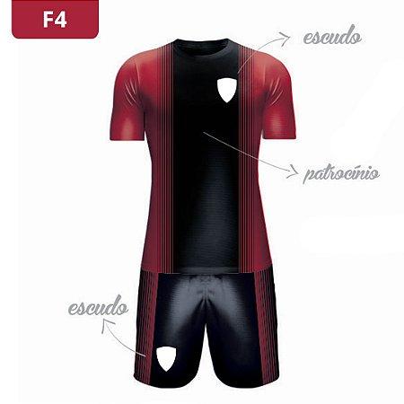 Uniforme de Futebol   KIT Modelo 4   Personalizado com as cores do seu time   Feminino e Masculino
