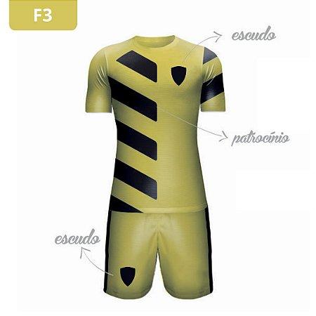 Uniforme de Futebol | KIT Modelo 3 | Personalizado com as cores do seu time | Feminino e Masculino