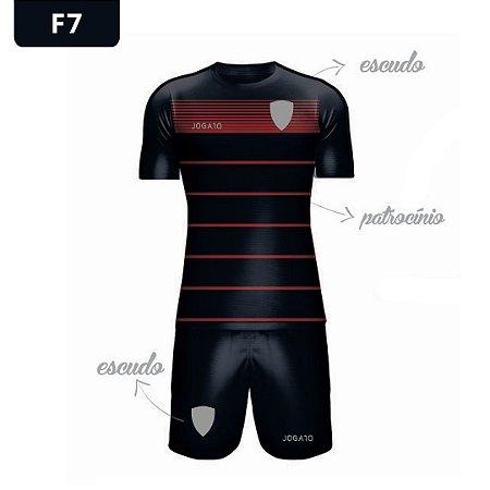 Uniforme de Futebol   KIT Modelo 7   Personalizado com as cores do seu time   Feminino e Masculino