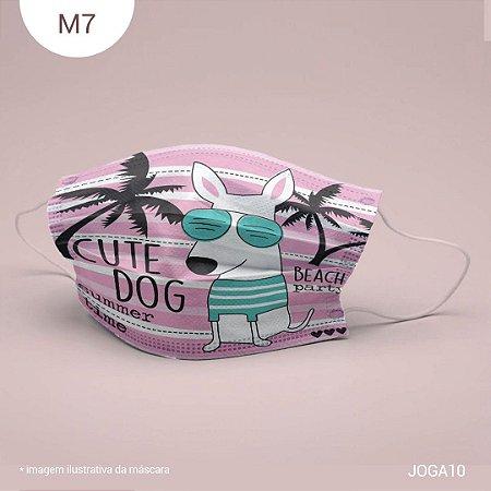 Máscara de Tecido| 2 camadas de proteção | Ajuste no nariz | M7