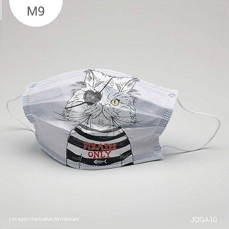 Máscara de Tecido| 2 camadas de proteção | Ajuste no nariz | M9